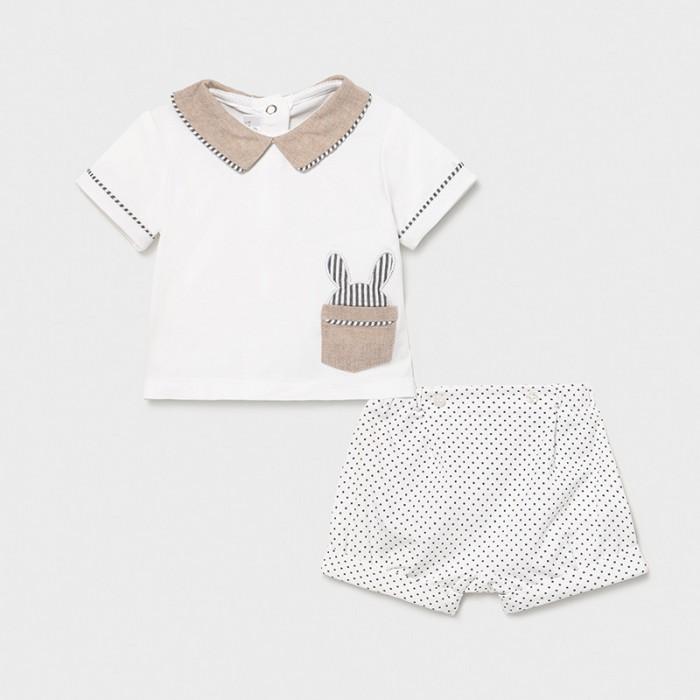 Фото - Комплекты детской одежды Mayoral Newborn Фуфайка и шорты для мальчика 1201 комплекты детской одежды mayoral newborn ползунки и фуфайка 1560