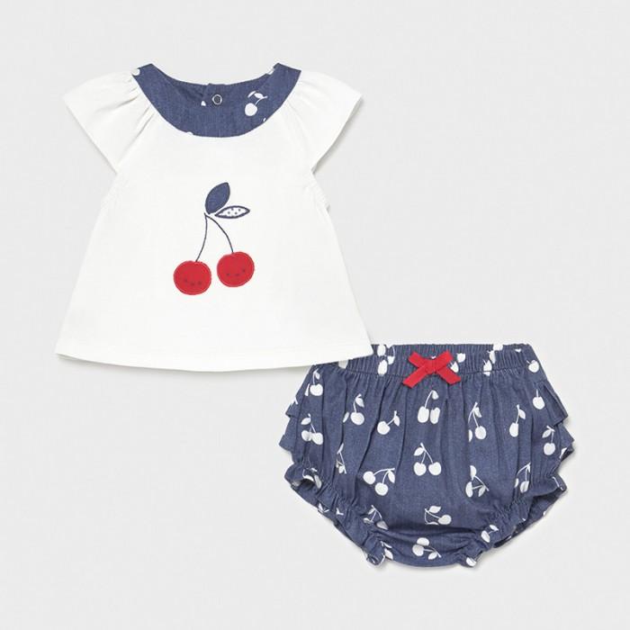 Фото - Комплекты детской одежды Mayoral Newborn Футболка и шорты для девочки 1297 комплекты детской одежды mayoral newborn ползунки и фуфайка 1560