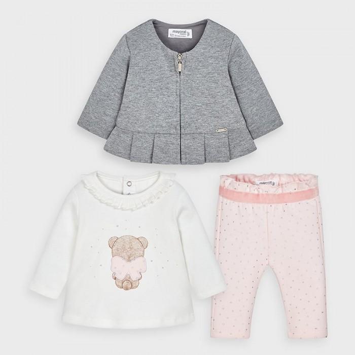 Mayoral Newborn Комплект для девочки: кардиган, фуфайка, леггинсы 2645