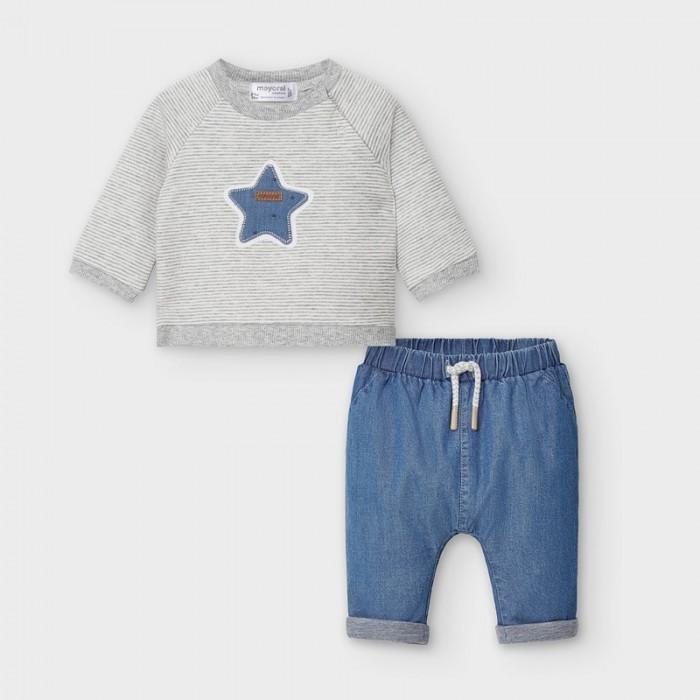 Mayoral Newborn Комплект для мальчика: брюки и фуфайка 2571