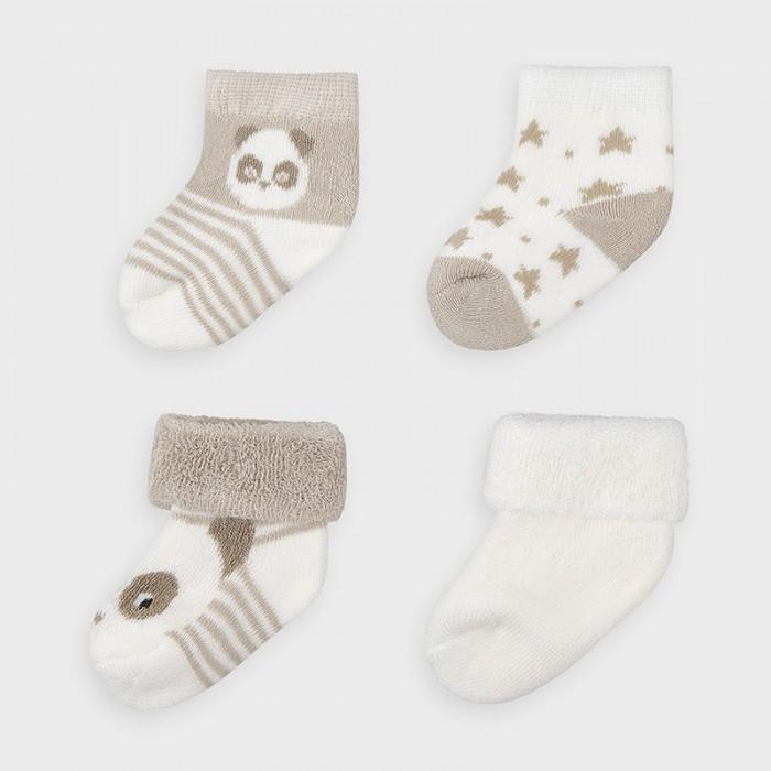 Белье и колготки Mayoral Newborn Носки для мальчика (4 пары) 9302