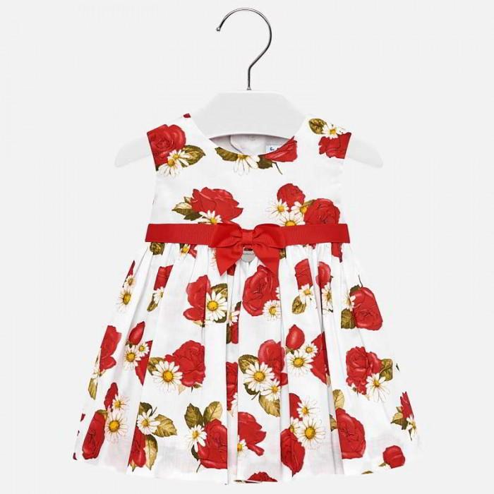 Mayoral Платье для девочки 1934Детские платья и сарафаны<br>Mayoral Платье для девочки 1934  Яркое платье от производителя детской одежды Mayoral станет одним из самых удобных, носких и универсальных предметов гардероба девочки.  Приятная на ощупь ткань отлично сохраняет тепло, поглощает влагу с поверхности тела, обладает высокой воздухопроницаемостью.  Изделие имеет свободный крой, не сковывая движение малышки. Оригинальный дизайн модели обязательно понравятся вашей девочке и поможет создать очень нежный образ.  Состав: 100% Хлопок, 100% Полиэстер Рекомендации по уходу: автоматическая стирка при температуре до 40 С.  Mayoral — известный во всем мире испанский бренд детской одежды. Компания выпускает повседневную одежду для детей от рождения до 16 лет, а так же аксессуары для новорожденных и детскую обувь. Детская одежда Mayoral представлена широким ассортиментом на все случаи жизни: от пляжных вещей до свитеров, от шляпок и ремней до пальто. Одежда бренда отличается многослойностью в образах и стильным сочетанием цветов в комплектах.