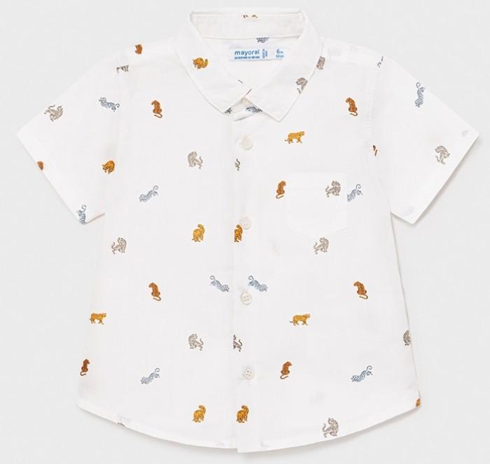 рубашка для мальчика mayoral цвет молочный 3144 35 5h размер 116 6 лет Рубашки Mayoral Рубашка для мальчика 1114