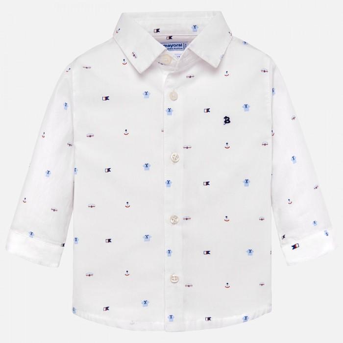 Mayoral Рубашка для мальчика 1131Блузки и рубашки<br>Mayoral Рубашка для мальчика 1131  Рубашка для мальчика от торговой марки Mayoral - замечательная модель, которая отлично подойдет для повседневной носки.  Модель сшита из плотного трикотажного полотна с высоким содержанием хлопковых волокон. Приятная на ощупь ткань отлично сохраняет тепло, поглощает влагу с поверхности тела, обладает высокой воздухопроницаемостью.  Состав: 100% Хлопок Рекомендации по уходу: автоматическая стирка при температуре до 40 С.  Mayoral — известный во всем мире испанский бренд детской одежды. Компания выпускает повседневную одежду для детей от рождения до 16 лет, а так же аксессуары для новорожденных и детскую обувь. Детская одежда Mayoral представлена широким ассортиментом на все случаи жизни: от пляжных вещей до свитеров, от шляпок и ремней до пальто. Одежда бренда отличается многослойностью в образах и стильным сочетанием цветов в комплектах.