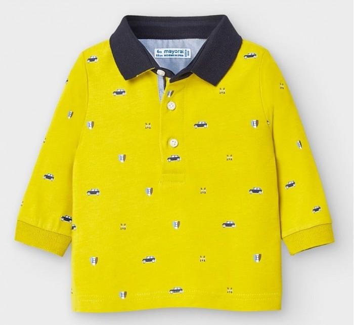 рубашка для мальчика mayoral цвет молочный 3144 35 5h размер 116 6 лет Рубашки Mayoral Рубашка-поло 2124