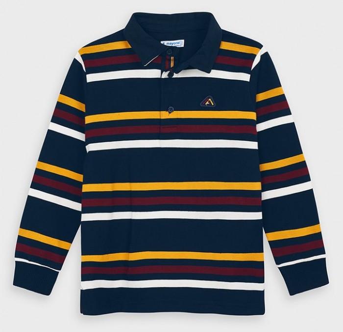 рубашка для мальчика mayoral цвет молочный 3144 35 5h размер 116 6 лет Рубашки Mayoral Рубашка-поло для мальчика 4132