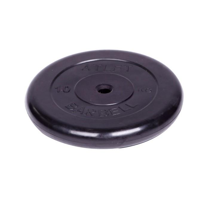 Спортивный инвентарь MB Bardell Диск обрезиненный Atlet d 26 мм 10 кг
