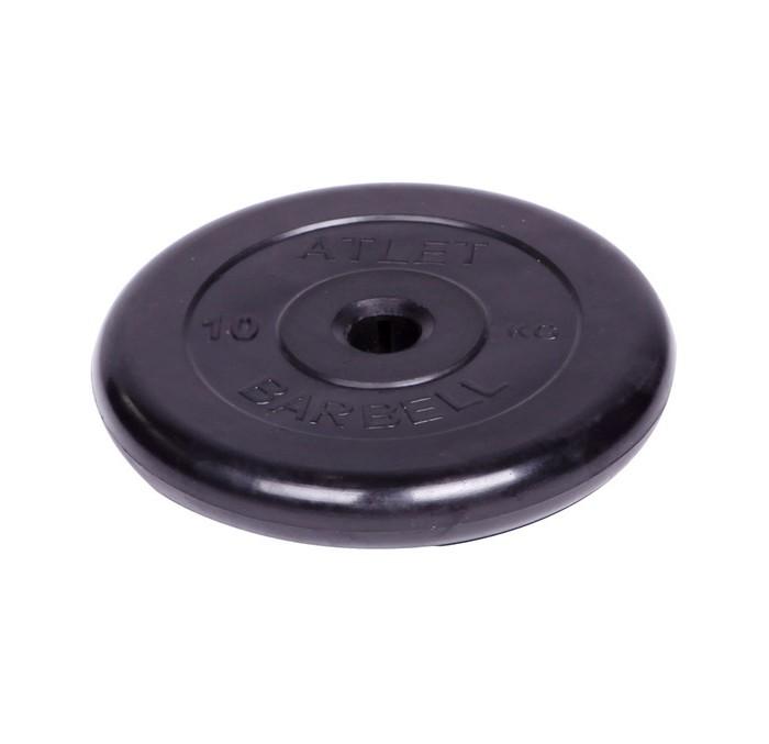 Спортивный инвентарь MB Bardell Диск обрезиненный Atlet d 31 мм 10 кг