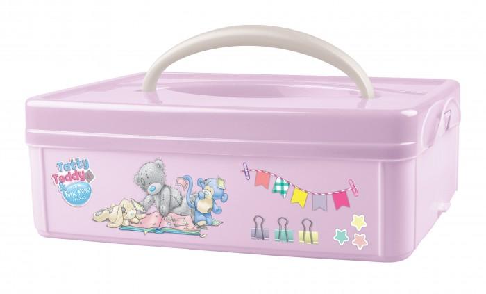 Ящики для игрушек Me to You Коробка универсальная с ручкой и аппликацией 245Х160Х82 мм коробка бытпласт универсальная с ручкой с аппликацией me to you 245х160х82 мм розовый