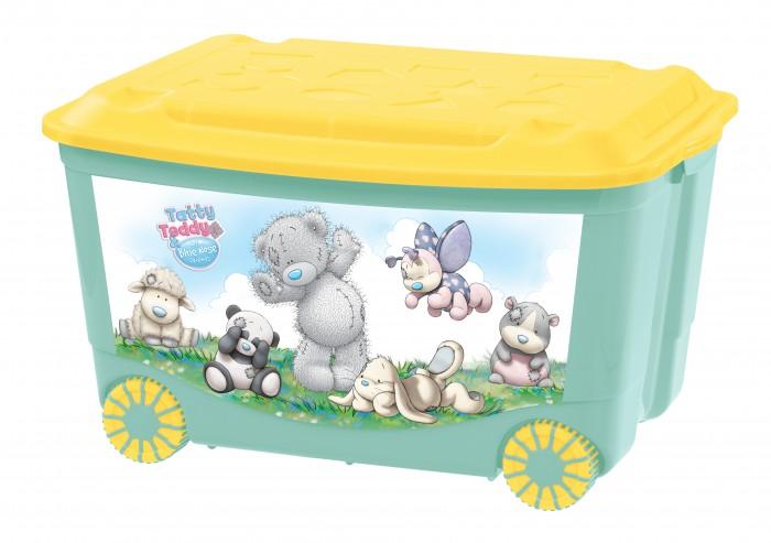 Фото - Ящики для игрушек Me to You Ящик для игрушек на колесах с аппликацией 580Х390Х335 мм ящик для игрушек на колесах с аппликацией том и джерри 580х390х335 мм сиреневый в кор 4шт