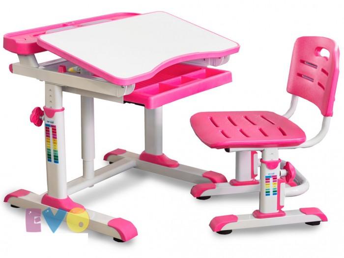Детская мебель , Столы и стулья Mealux Комплект мебели: столик и стульчик BD-09 XL (столешница белая) арт: 441759 -  Столы и стулья