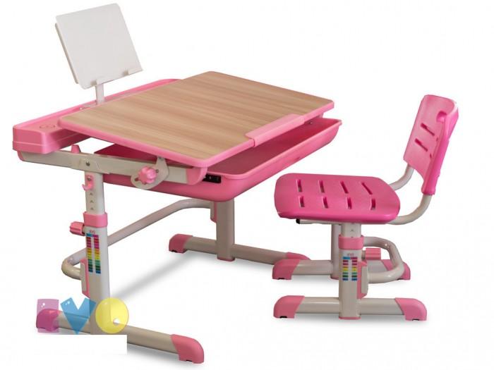 Mealux Комплект мебели: столик и стульчик EVO-04 XL (столешница клен)Школьные парты<br>Mealux Комплект мебели: столик и стульчик EVO-04 XL (столешница клен) для подрастающего малыша и школьника.  Особенности: Барьер не даст упасть тетрадям при наклоне столешницы. Вместительный ящик-органайзер благодаря которому книги, тетради и ручки будут всегда под рукой. Пенал где будут самые любимые карандаши. Пластик усиллен для лучшей надежности. Наклона столешницы можно изменить ослабив фиксаторы. Высота меняется при ослаблении ножных фиксаторов. Крючок для портфеля, теперь все можно держать рядом. Все материалы конструкции стола не содержат вредных веществ. Сделано в Тайване.