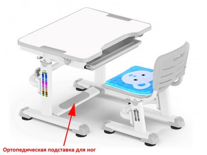 Mealux Комплект парта и стульчик BD-08 Teddy (столешница белая)