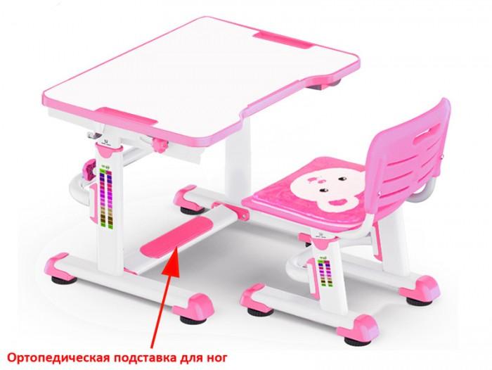 Школьные парты Mealux Комплект парта и стульчик BD-09 Teddy (столешница белая)