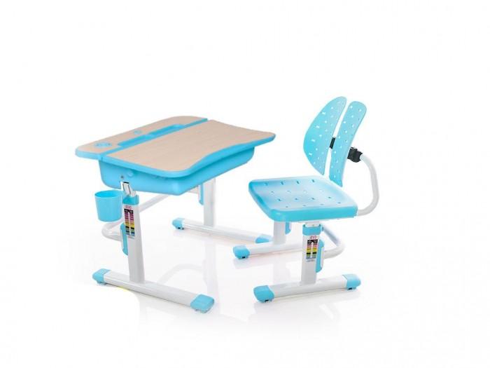 Mealux Комплект мебели столик и стульчик EVO-03Комплект мебели столик и стульчик EVO-03Mealux Комплект мебели столик и стульчик EVO-03  Пеналы для удобной организации рабочего пространства ребенка.  Подставка которая позволяет сделать столешницу ровной в случае необходимости. Крючок - для портфеля, учебники всегда рядом.  Изменяемая глубина спинки - что позволит более точно адаптировать стульчик под ребенка.Двойная форма спинки удобно облегает для лучшей поддержки ребенка.  Размеры: Ширина, см: 70,5 Глубина, см: 54,5 Max высота столешницы: 76 см. Min высота столешницы: 54 см. Регулировка высоты: Да Угол наклона: 0-6,5 град. Высота, см: 54 - 76<br>