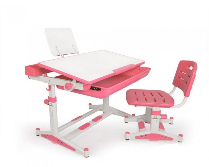 Mealux Комплект мебели столик и стульчик EVO-04 NewКомплект мебели столик и стульчик EVO-04 NewMealux Комплект мебели столик и стульчик EVO-04 New  Барьер удержит тетради и книги на столе при наклоне. Большой ящик-органайзер для тетрадей и канцелярии, позволит держать все в одном месте. Пенал для самого необходимого.   Усиленный пластик стульчика повышает надежность и долговечность. Угол наклона столешницы изменяется при ослаблении фиксаторов.   Регулировка высоты имеет дополнительные фиксаторы. Ножки парты имеют специальные накладки.   Размеры: Ширина, см: 70 Глубина, см: 60 Max высота столешницы: 78 см. Min высота столешницы: 52 см. Регулировка высоты: Да Угол наклона: 0-40 град. Высота, см: 52 - 78<br>