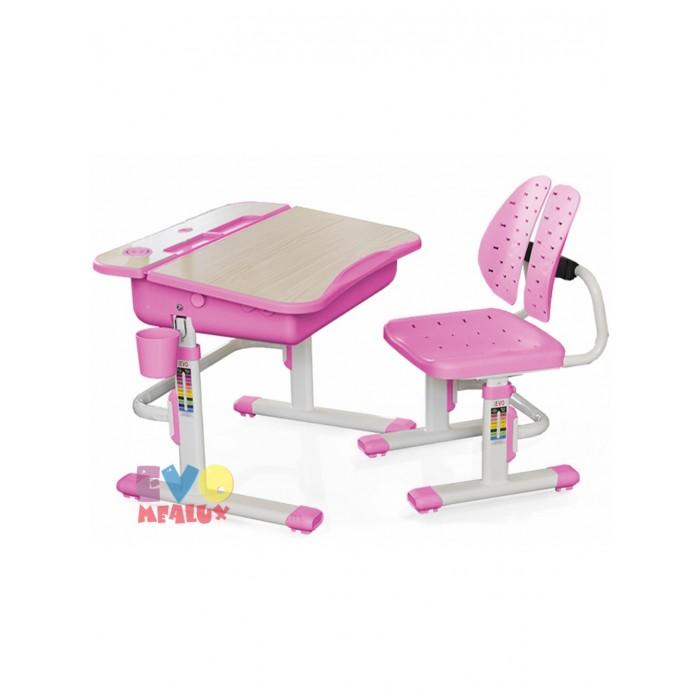 Mealux Комплект мебели столик и стульчик EVO-05 с лампойКомплект мебели столик и стульчик EVO-05 с лампойMealux Комплект мебели столик и стульчик EVO-05 с лампой  Пеналы для удобной организации рабочего пространства ребенка.  Выдвижной ящик - органайзер для канц-товаров,  что бы все было под рукой. Крючок - для портфеля, учебники всегда рядом.  Фиксаторы столешницы, а так же газ-лифт для плавной и легкой смены угла наклона. Изменяемая глубина спинки - что позволит более точно адаптировать стульчик под ребенка.  Двойная форма спинки удобно облегает для лучшей поддержки ребенка.  Размеры: Ширина, см: 70,5 Глубина, см: 54,5 Max высота столешницы: 76 см. Min высота столешницы: 54 см. Регулировка высоты: Да Угол наклона: 0-60 град. Высота, см: 54 - 76<br>