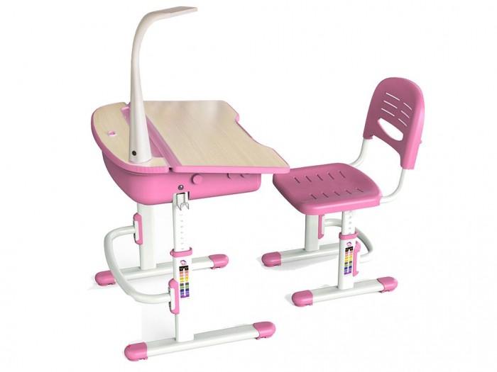 Mealux Комплект мебели столик и стульчик с лампой EVO-02Комплект мебели столик и стульчик с лампой EVO-02Mealux Комплект мебели столик и стульчик с лампой EVO-02  Барьер удержит книги и тетради на столе с наклоном. Большой ящик-органайзер для тетрадей и канцелярии, позволит держать все в одном месте. Крючок для портфеля, даст ребенку возможность держать все рядом.  Газ-лифт обеспечит плавность и безопасность закрывания столешницы. Задняя полочка с пеналами и разъемами для аксессуаров.  Размеры: Ширина, см: 70,5 Глубина, см: 54,5 Max высота столешницы: 76 см. Min высота столешницы: 54 см. Регулировка высоты: Да Угол наклона: 0-6,5 град. Высота, см: 54 - 76<br>
