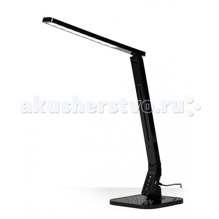 Светильник Mealux Лампа настольная светодиодная ML-100Лампа настольная светодиодная ML-100Mealux Лампа настольная светодиодная ML-100  Мощные и яркие LED диоды, обеспечивают ровный, мягкий свет без мерцаний, а температура свечения регулируется от 2500K до 7000K.  USB-порт в 5V на 2A, обеспечить быструю зарядку ваших гаджетов.  Сенсорная панель управление лампой позволяет кроме температуры, легко изменить режим работы лампы, а так же установить таймер отключения.  Особенности: Светопоток (lm): 530 Высота, см: 45 Мощность (Вт): 11 Регулировка яркости: 5 уровней Питание: 110 - 240 В Зарядка для телефона: есть 1.5А Регулировка высоты: Да Цветовая температура: 2700 - 6600 К<br>