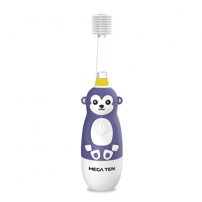 Гигиена полости рта Mega Ten kids Sonic Детская электрическая зубная щетка Обезьянка звуковая зубная щетка mega ten kids sonic обезьянка фиолетовый белый