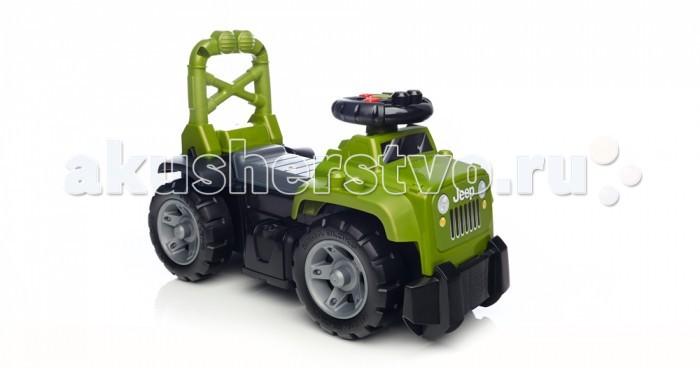 Каталка Mega Bloks Mattel Джип большой 3 в 1Mattel Джип большой 3 в 1Ваш маленький поклонник джипов 4x4 может в поисках новых приключений прокатиться по бездорожью на легендарном Jeep-каталке 3 в 1 от Mega Bloks!   Jeep 3-в-1 имеет узнаваемый дизайн и расцветку, а на руле у него находятся кнопки, имитирующие звуки настоящей машины, что делает впечатления от езды на этой машине незабываемыми.   Наличие у сиденья высокой спинки позволяет превратить джип в тележку-ходунки, которую можно с легкостью толкать сзади.   Под поднимающимся сиденьем находится отделение для хранения, куда можно положить все 10 блоков First Builders, имеющих традиционное для джипа оформление.  Идеально подходит для детей в возрасте от 1 до 3 лет  Особенности: Для создания машины каталки в виде настоящего Джипа использованы узнаваемые цвета и дизайн. На руле размещены кнопки имитирующие звуки настоящей машины Набор включает в себя 10 тематических блоков First Builders. Под сиденьем предусмотрено место для хранения неиспользуемых блоков и прочих предметов. Высокая спинка сиденья с ручками позволяет использовать Jeep 3-в-1 в качестве машинки для езды и в качестве ходунков.<br>
