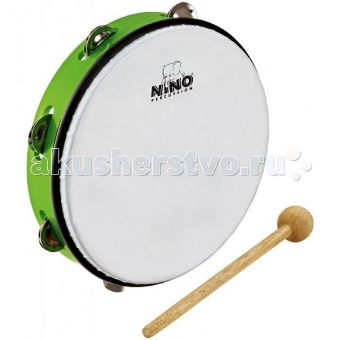 Музыкальные игрушки Meinl Тамбурин с синтетической мембраной и колотушкой Nino24GG meinl pm2bg