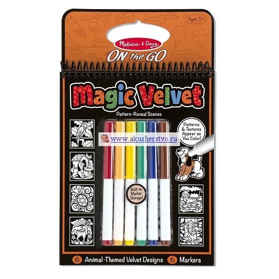 Купить Раскраски, Раскраска Melissa & Doug Набор для творчества Магический бархат