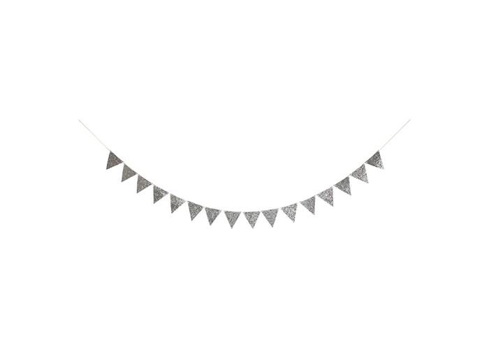 Купить Товары для праздника, MeriMeri Гирлянда Мерцающие флажки 3 м