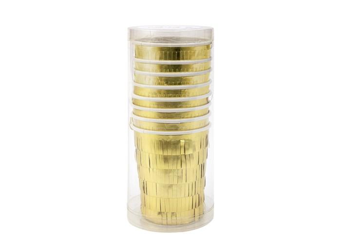 Товары для праздника MeriMeri Стаканы праздничные с каймой 8 шт. rod халат парикмахерский черный с желтой каймой 5 размеров s 1 шт