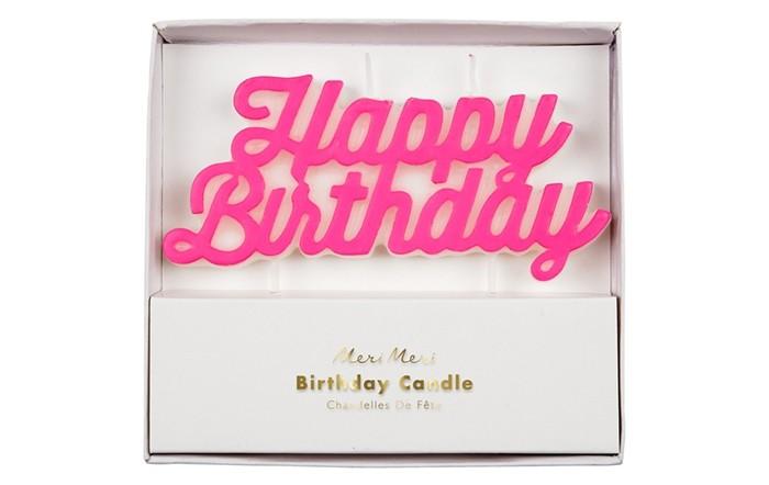 Товары для праздника MeriMeri Свеча День Рождения