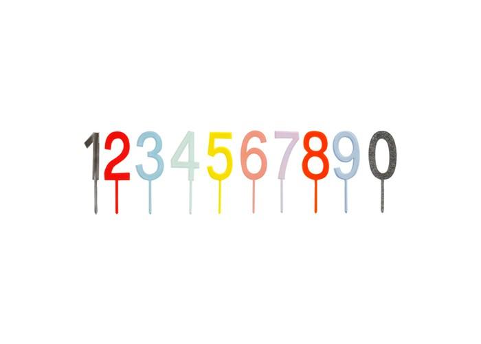 Товары для праздника MeriMeri Топперы для торта Цифры