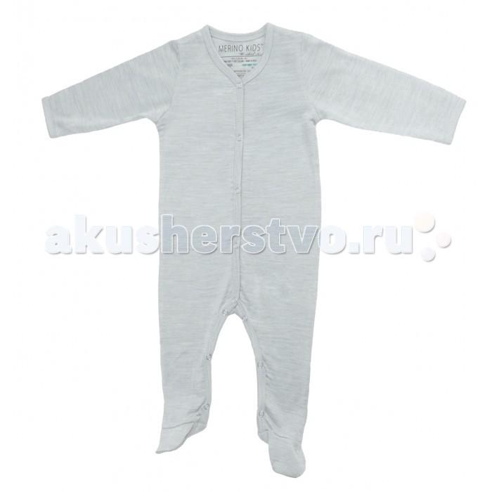Merino Kids Комбинезон CocooiКомбинезон CocooiКомбинезоны COCOOI™ сделаны из 100% чистой тонкой мериносовой шерсти.  Они разработаны с учетом комфорта и безопасности вашего ребенка. Комбинезоны Merino Kids можно стирать в стиральной машине и сушить в барабане.  Комбинезон COCOOI™ отлично подходит в качестве первого слоя одежды новорожденных детей. Мериносовое волокно обеспечивает оптимальное регулирование температуры. Вся влага, создаваемая телом ребенка, выходит наружу. Такие условия являются идеальными для сна малыша, поскольку препятствуют росту бактерий и уменьшают раздражение чувствительной кожи и возникновение экзем.  По низу рукавов имеются конструктивные манжеты, отворачивая которые Вы можете спрятать ручки малыша наподобие рукавичек - малыш не сможет поцарапать себя.  Манжеты по низу комбинезона укрывают ножки малыша, сохраняя их в тепле.  Длина комбинезона - 54.5 см<br>