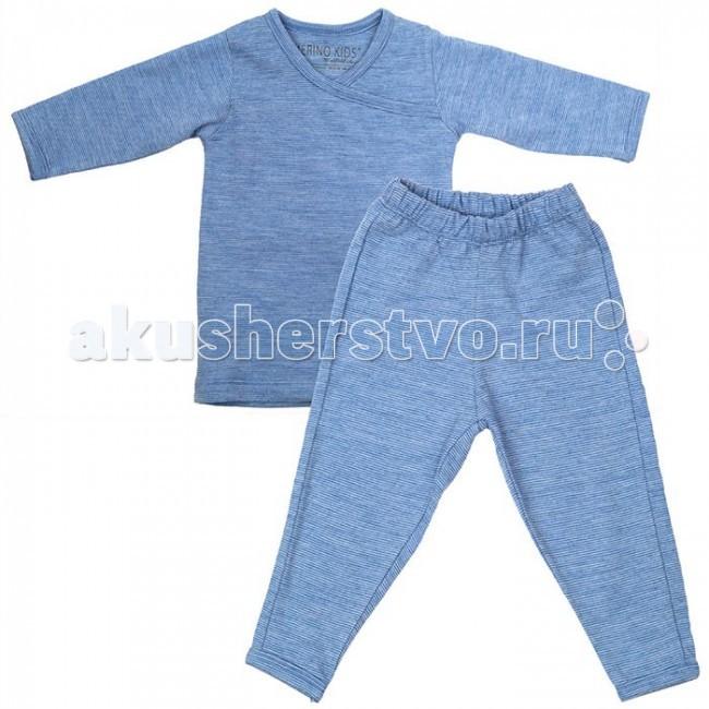 Детская одежда , Пижамы и ночные сорочки Merino Kids Пижама из шерсти мериноса 6-12 мес. арт: 46922 -  Пижамы и ночные сорочки