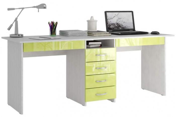 Купить Детские столы и стулья, MF Master Стол письменный Тандем 2Я Глянец (основание белое)