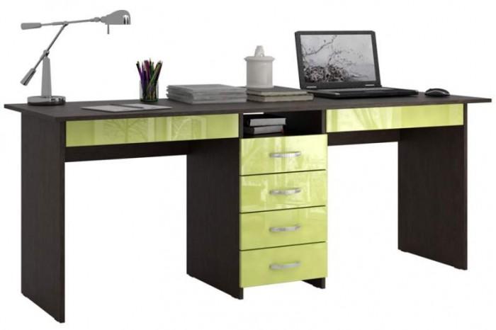 Купить Детские столы и стулья, MF Master Стол письменный Тандем 2Я Глянец (основание венге)