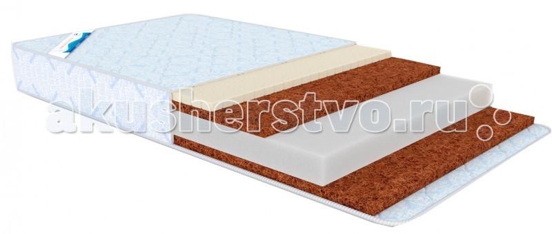 Матрас Афалина Баю-Бай 125x65Баю-Бай 125x65Матрасы изготавливаются на специализированном оборудовании и отличаются прямолинейностью швов и ровной поверхностью. При его производстве используются матрасные ткани, дизайн и качество которых находятся на самом высоком уровне. Для данной модели матраса разработан фирменный дизайн жаккарда. Натуральное кокосовое волокно и натуральный латекс являются основной составляющей частью. Кокосовый слой: является изолирующим материалом, который защищает от влажности одновременно позволяя матрасу хорошо проветриваться. Этот материал позволяет находить правильное соотношение между противоречивыми свойствами - мягкостью и жесткостью. Что очень важно, т.к. у детей происходит формирование и совершенствование позвоночного столба. Такой матрас правильно развивает позвоночник - основу гордой осанки и красивой походки. Латекс: является связующим экологически чистым веществом, обладает антибактериальными, антигрибковыми свойствами, не поглощает пыль. Матрас обладает прекрасными теплоизоляционными свойствами благодаря формуле Зима/Лето. На стороне Зима жаккард простеган с шерстью. Шерсть: натуральный изоляционный материал, который отталкивает влагу, создавая сухую и здоровую атмосферу сна. На стороне Лето жаккард простеган с хлопком. Хлопок: натуральный материал, который не накапливает влагу и обеспечивает прекрасный воздухообмен. Высокоупругий пенополиуретан также является составляющей частью нашего матраса. Этот материал состоит из миллиардов крошечных ячеек - молекулярных пружин, которые пропускают воздух, что позволяет материалу свободно дышать. Пенополиуретан обеспечивает эффект мягкости и жесткости только в нужных зонах, за счет чего предохраняет позвоночник от искривления. Это экологически чистый материал, неаллергенный, нетоксичный, пожаробезопасный. В наших матрасах наилучшим образом сочетаются все характеристики: сохраняет долговечность, анатомичность, не содержат выделяющихся веществ вызывающих аллергию свежесть, т.е. именно те свой