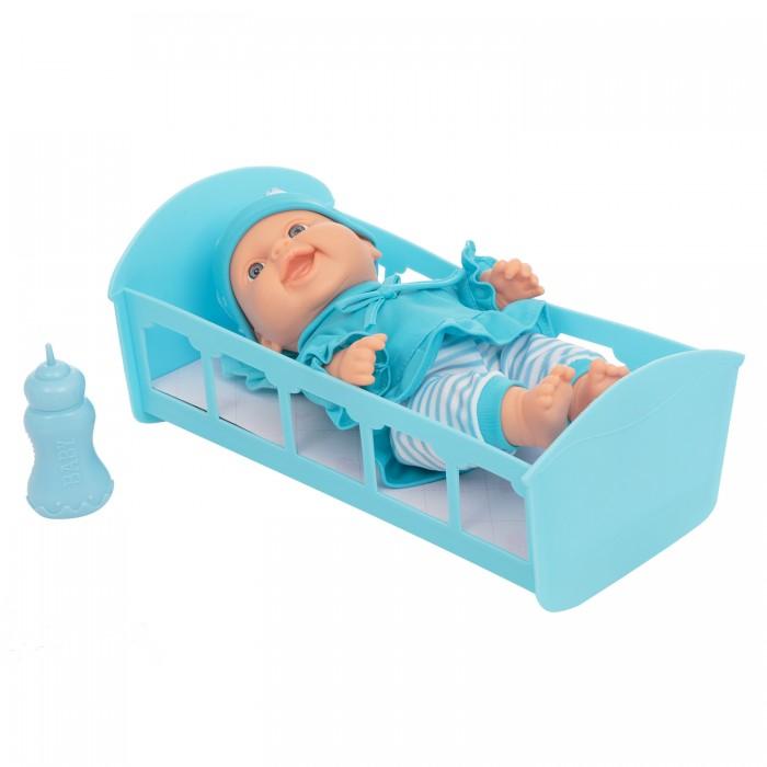 Куклы и одежда для кукол Mia Club Набор игровой Пупс 27 см кроватка