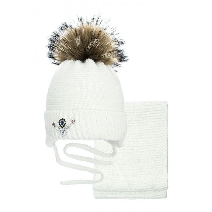 Купить Шапки, варежки и шарфы, Mialt Комплект для девочки (шапка и снуд) Фаберже