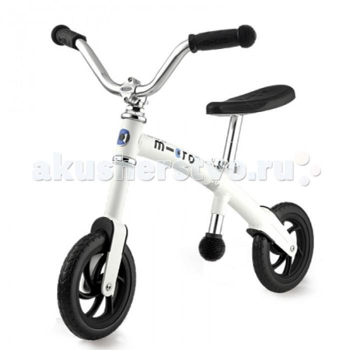 Беговел Micro G-bike ChopperG-bike ChopperБеговел Micro G-bike Chopper был разработан специально для детей 2-3 лет.  Особенности: руль настраивается по высота ручки сделаны только из нетоксичных материалов регулируемое по высот сидение из пеноматериала ограниченный угол поворота колеса для избежание падений легкая алюминиевая рама - вес всего 2.5 кг мягкие 200 мм колеса из пеноматериала обеспечивают лучшее сцепление с поверхностью Размер: 77 х 48 х 49-55 см<br>