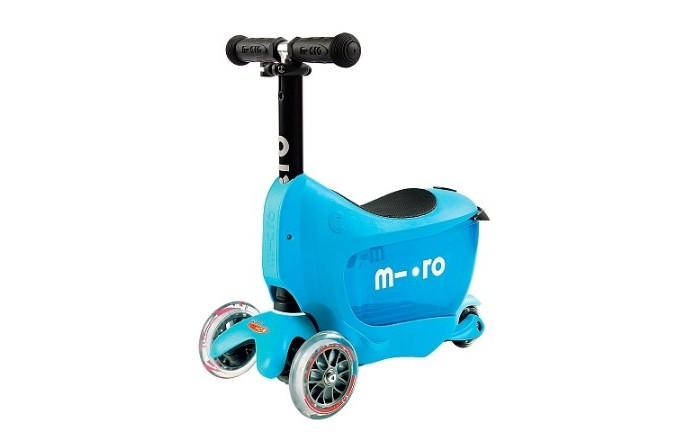 Трехколесный самокат Micro Mini2go DeluxeMini2go DeluxeСамокат Micro Mini2go Deluxe. Mini 2Go Deluxe - это инновационный самокат с ёмкостью для детских игрушек и принадлежностей. Малыш просто садится на сидение и едет отталкиваясь ножками.  Mini 2Go подходит для малышей от 18 месяцев и до 5 лет. Управление осуществляется перемещением веса ребенка, катание на этом детском кикборде развивает в ребенке моторику и баланс.<br>