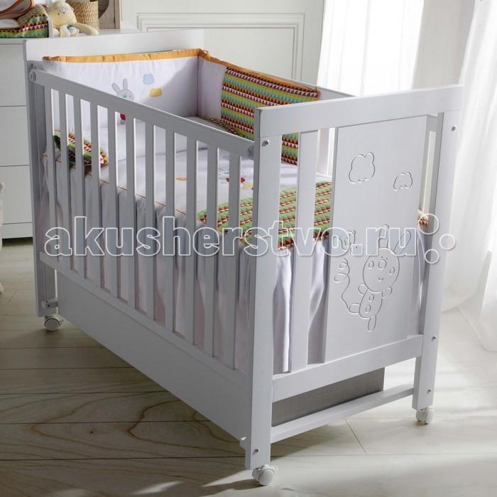 Детская мебель , Детские кроватки Micuna Conejito с матрасом СН-620 арт: 364372 -  Детские кроватки