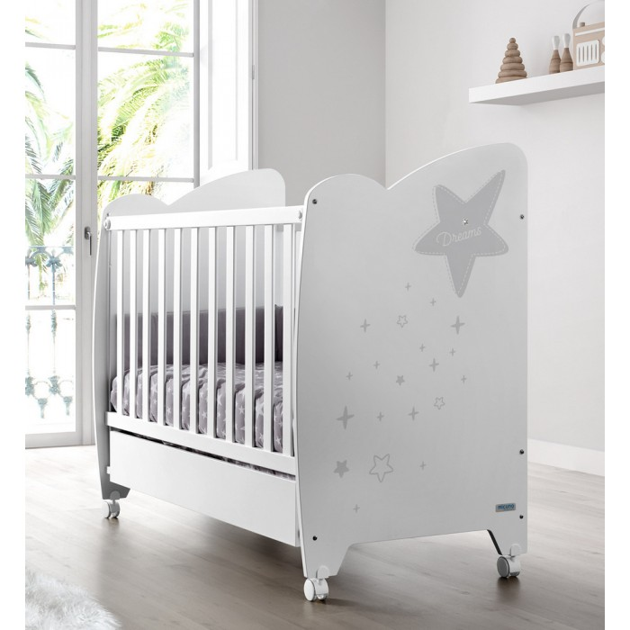 Детские кроватки Micuna Estela 120х60 ящик маятник для кровати 120х60 micuna cp 1405 chocolate