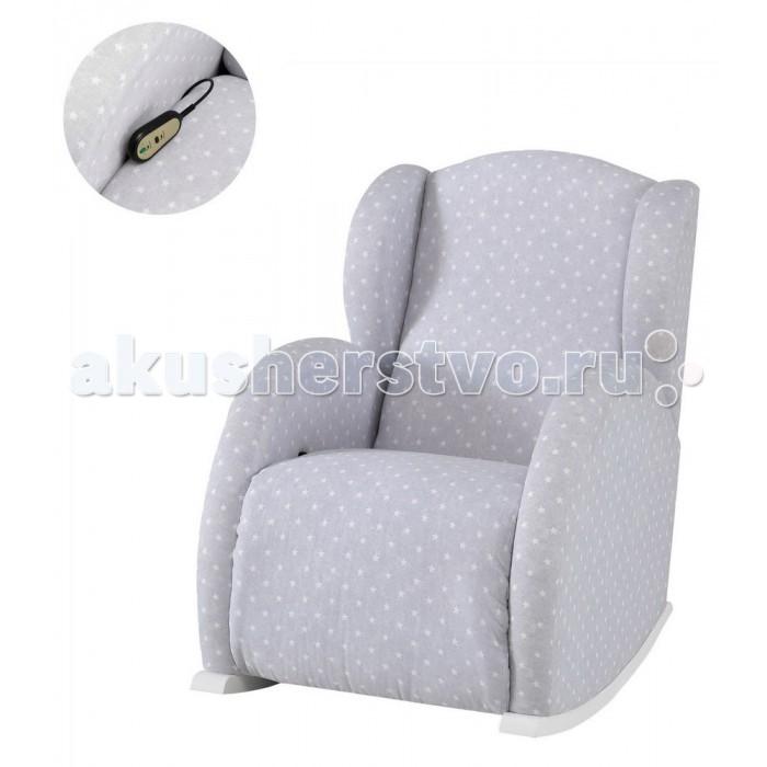 Кресло для мамы Micuna качалка Wing/Flor RelaxКресла для мамы<br>Micuna Кресло-качалка Wing/Flor Relax   Прекрасное решение для матерей, желающих позаботиться не только о малыше, но и о собственном комфорте: удобное глубокое сиденье, мягкие подлокотники, крепкие полозья – кресло-качалка Micuna плавно покачивается и даёт возможность маме отдохнуть с комфортом после повседневных забот.   Благодаря универсальному дизайну, такое кресло отлично впишется в любой интерьер – Вам остаётся только выбрать подходящую расцветку.  Прочный и надёжный каркас из натурального дерева. Вся конструкция кресла – основной каркас и полозья – выполнены из массива сосны. Это дерево обладает плотной структурой и отличается практичностью в использовании.  Модель 2018 года – кресло-качалка, оборудованное Relax-системой. Спинка откидывается назад, а подножка поднимается – теперь Вы можете выбрать наиболее комфортное положение для отдыха, чтения или кормления малыша.  Стильная обивка Galaxy: прочная ткань 100% хлопок.  В качестве наполнителя для сиденья, спинки и подлокотников использован высококачественный пенополиуретан. Среди его важнейших качеств – прочноcть, высокая износостойкость и отличная вентиляция.  Удобная система сцепления для использования кресла совместно с колыбелью Micuna Nacelle MO-1782. Полозья колыбели и кресла оборудованы специальными крепления: просто соедините полозья – теперь колыбель и родительское кресло будут покачиваться синхронно, убаюкивая новорождённого и позволяя маме отдохнуть, не отходя от малыша.  Особенности: уютное кресло-качалка – идеально для кормящей мамы или для отдыха любого члена семьи крепкий каркас из массива плотной сосны гарантирует надёжность и долговечность конструкции система Relax – спинка откидывается назад, а подножка поднимается, предоставляя возможность выбрать одно из 3 комфортных положений стильная обивка Galaxy: прочная ткань 100% хлопок наполнитель сиденья и спинки: пенополиуретан Размеры: внешние размеры кресла (ШхГхВ): 74х82х99 см; внут