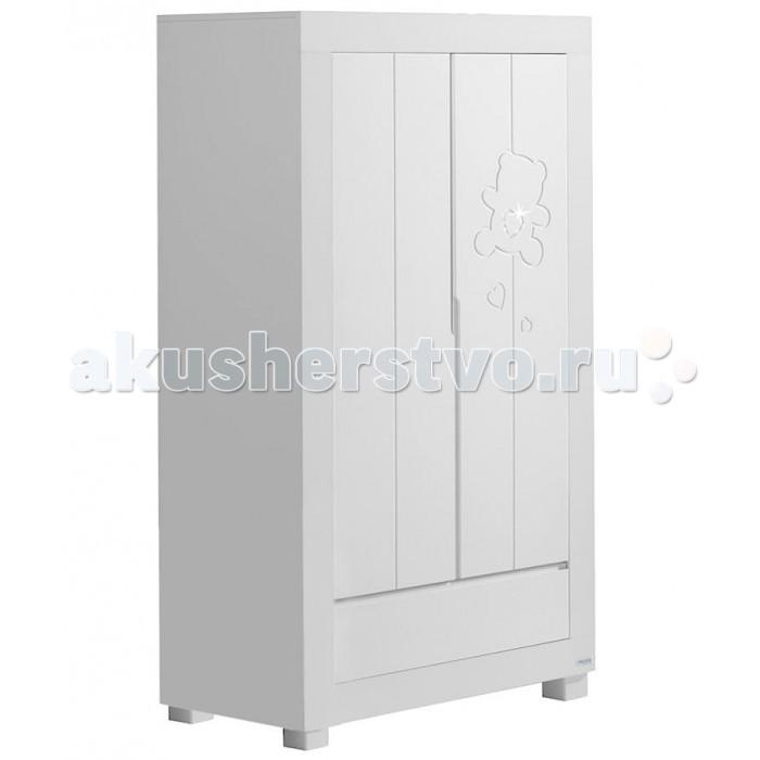 Шкаф Micuna Neus A-1390 двустворчатыйNeus A-1390 двустворчатыйШкаф Micuna Neus A-1390 двухстворчатый на устойчивых ножках - стильный предмет мебели, который идеально впишется в детскую комнату, дверцы декорированы резьбой.   Шкаф очень вместительный, он не только красив, а также позволит хранить детские вещи и белье в идеальном порядке. При производстве использовано современные, безвредные материалы, лаки и краски.  Особенности: 2 отделения 2 больших полки, 2 маленькие полочки Штанга для плечиков 3 ящика на металлических направляющих Достаточно большое пространство между полом и дном шкафа, поэтому удобно делать влажную уборку Стильные квадратные ручки у створок и ящиков Материал - бук + ламинированный МДФ Внешнее покрытие - нетоксичные лаки и краски Габариты (ВхШхГ) - 189 х 108 х 58 см<br>
