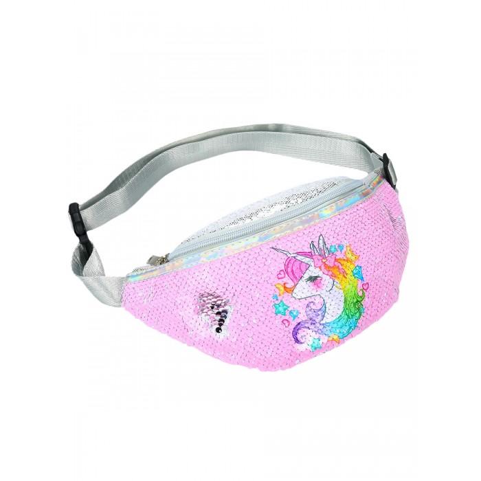 Купить Сумки для детей, Mihi Mihi 07281 Сумочка поясная с пайетками Радужный Единорог