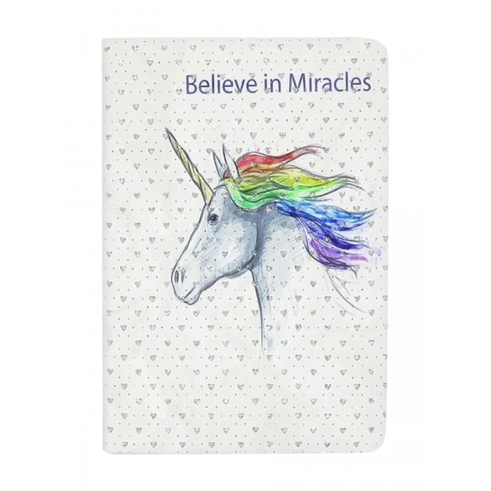Mihi Mihi Блокнот с блестками Единорог Believe in Miracles А5 фото