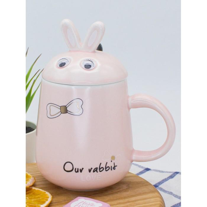 Купить Посуда и инвентарь, Mihi Mihi Кружка с крышкой Зайчик Our Rabbit 425 мл