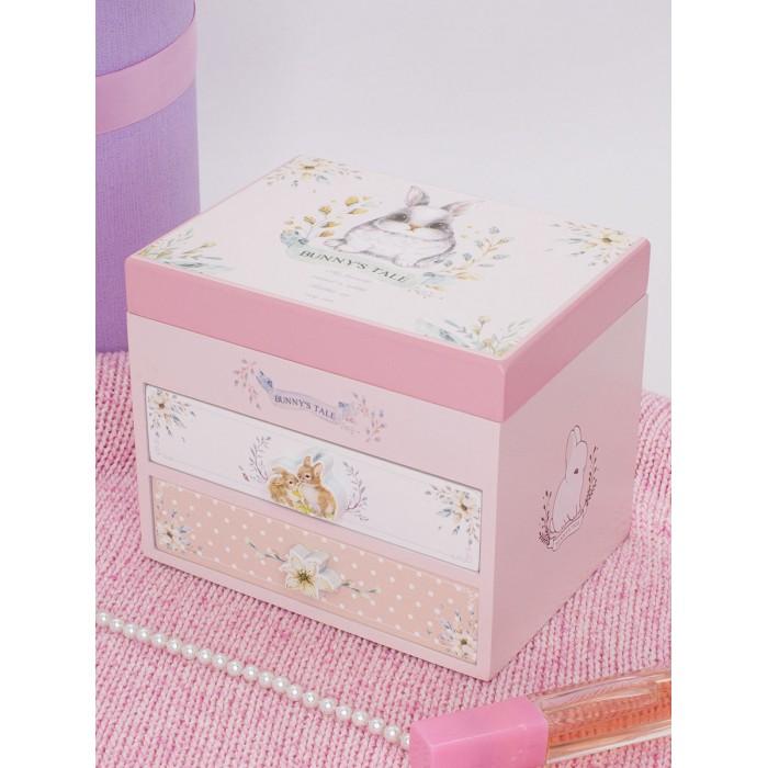 Шкатулки Mihi Музыкальная шкатулка для украшений Кролик с зеркалом