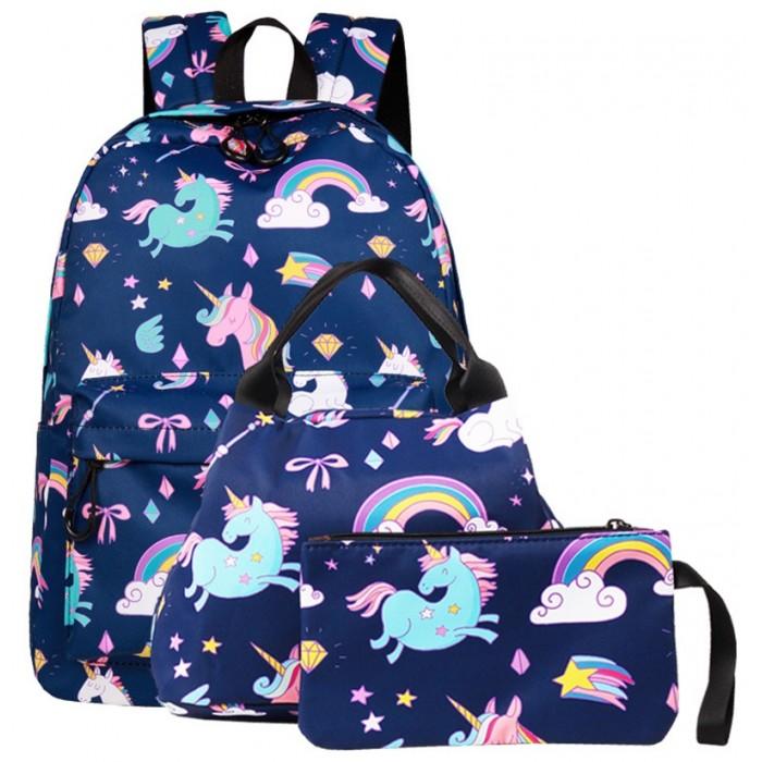 Mihi Mihi Набор 3 в 1: рюкзак, сумка и косметичка Urban Dreams Единорог MM0968