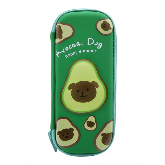 Пеналы Mihi Пенал школьный маленький 3D Авокадо Avocado Dog